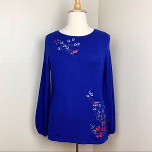 Charter Club Jewel Tones Embroidered Sweater XL